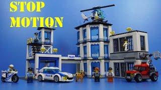 getlinkyoutube.com-Lego 60141 Lego City Police Station StopMotion Build Review