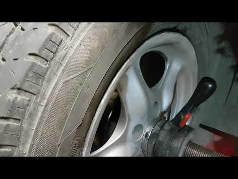 Колесо VW Transporter после ремонта