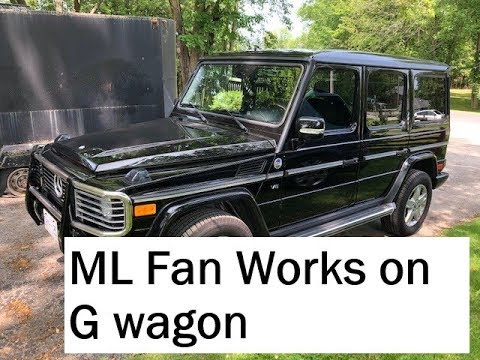 Mercedes G Wagon W463,W163 ML Fan clutch replacement