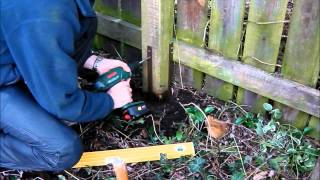 getlinkyoutube.com-Repair broken timber fence posts - quick and easy with Post Buddy