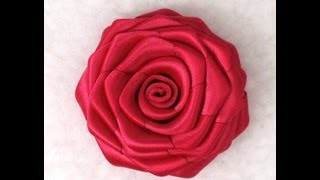 getlinkyoutube.com-DIY Ribbon Rose, Tutorial, How to make
