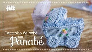 getlinkyoutube.com-Artesanato Lembrancinha carrinho de bebê (Mariéli Betti)