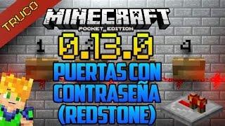 getlinkyoutube.com-Minecraft PE 0.15.0 Puertas Con Contraseña - Trucos - Mapas - Mecanismos Redstone