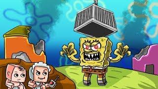 Minecraft - SECRET SPONGEBOB ESCAPE CHALLENGE! (Krusty Krab Dungeon)