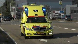 getlinkyoutube.com-Politie, rapid responder en ambulances met spoed in Amsterdam