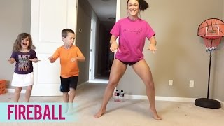 getlinkyoutube.com-Pitbull - Fireball (Dance Fitness with Jessica)