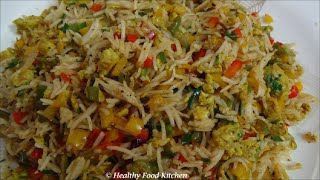 getlinkyoutube.com-Egg Fried Rice Recipe - Variety Rice Recipe By Healthy Food Kitchen