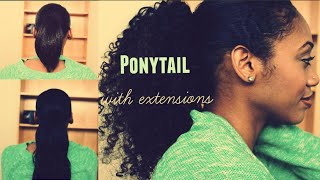 getlinkyoutube.com-How To: Ponytail With Extensions