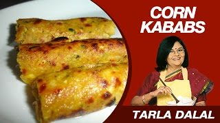 getlinkyoutube.com-Corn Kebabs Snack Recipe by Masterchef Tarla Dalal | 10 Minute Meal