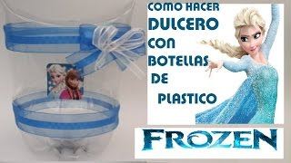 getlinkyoutube.com-Como hacer Dulcero de Elsa y Ana de FROZEN con botella de coca cola (PET)