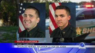 Oficiales héroes, salvaron la vida de joven en Port Charlotte