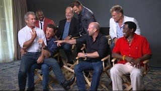 getlinkyoutube.com-Sylvester Stallone, Cast Talk 'The Expendables 3'