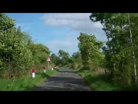 Narrow Scottish Road Carse of Gowrie Perthshire Scotland September 4th