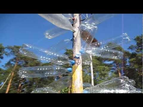 Музыкальное дерево из пластиковых ПЭТ бутылок