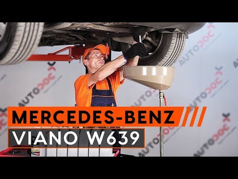 How to replace Engine Oil and Oil filter on MERCEDES-BENZ VIANO W639 TUTORIAL | AUTODOC