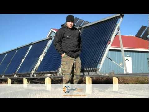 Flat Plate Solar Collector Install On The SunMaxx Solar Warehouse