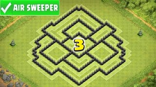 "Clash Of Clans | ""BEST TH8 FARMING BASE (GOLDEN PLANET 3) AIR SWEEPER TOWN HALL 8 UPDATE"