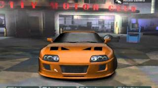 Fast and Furious cars in nfs carbon