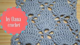 getlinkyoutube.com-Crochet leaf stitch- by Oana