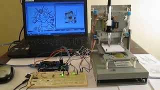 getlinkyoutube.com-Mini CNC machine Arduino Based & Adafruit  Driver Motor L293D v1 & 2*Mini Stepper CD/DVD player #1