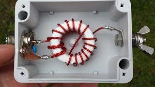 """getlinkyoutube.com-Homebrew 10/20/40m  EFHW vertical Antenna """"SOTA"""""""