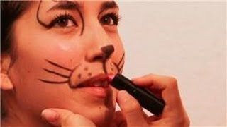 getlinkyoutube.com-Face Painting and Makeup : How to Make a Cat's Nose & Whiskers With Makeup