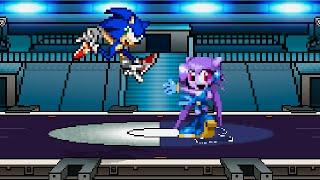 getlinkyoutube.com-SSF2 Mod Battle: Sonic the Hedgehog vs Lilac the Dragon Girl
