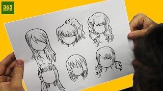 getlinkyoutube.com-COMO DIBUJAR CABELLO ANIME / COMO DIBUJAR CABELLO MANGA - How to draw hair