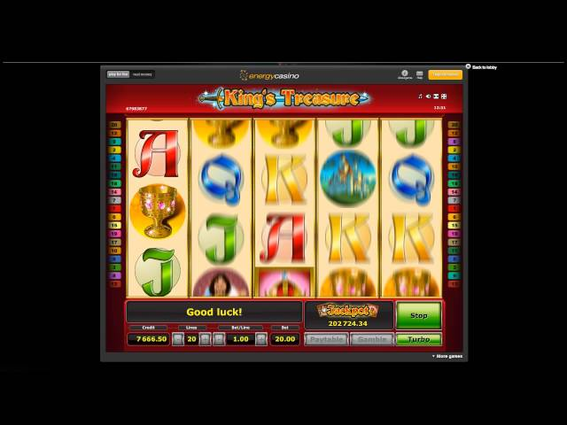 Play King's Treasure with EnergyCasino