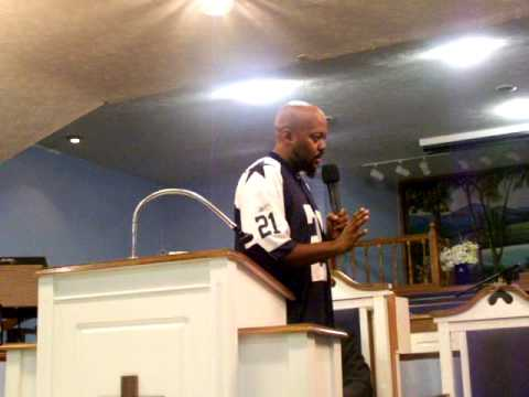 Tiger preaching @ New Community Temple, Men's Conference ; dealing with boy's pants saggin