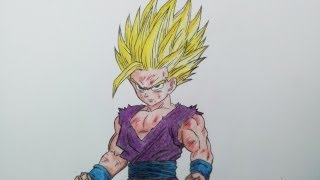 getlinkyoutube.com-Drawing Gohan Super Saiyan 2 | SSJ2