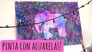 getlinkyoutube.com-Acuarelas y Sal! | Zentangle Art