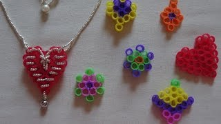 getlinkyoutube.com-How to make a heart necklace with recycled drinking straws( no glue used) Valentine's day craft