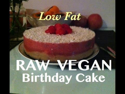 Raw Vegan Neopolitan Birthday Cake