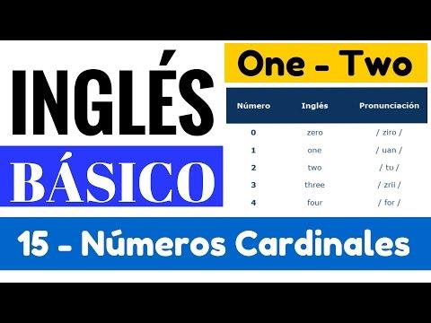 Los numeros cardinales en inglés y como formarlos. Pronunciación