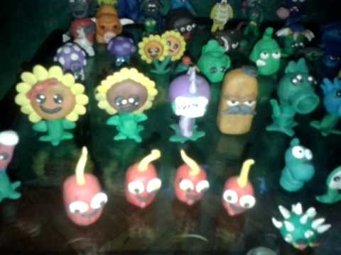 Plants vs zombies de plastilina