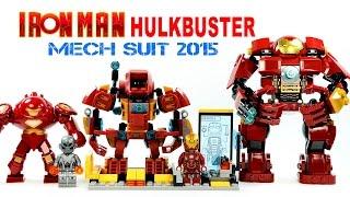 getlinkyoutube.com-LEGO Iron Man Hulkbuster Mech Suit & Tony Stark Laboratory KnockOff Set Review