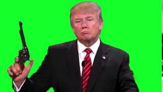getlinkyoutube.com-Donald Trump shoots Revolver - Green Screen Footage HD