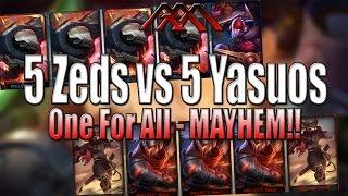 getlinkyoutube.com-5 Zeds vs 5 Yasuos - One For All - League of Legends