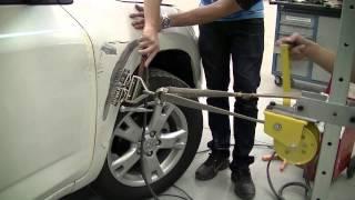 getlinkyoutube.com-Sprex Japan - Treinamento de Reparo Rápido  Reparo de paralama dianteira sem massa  Toyota RAV4