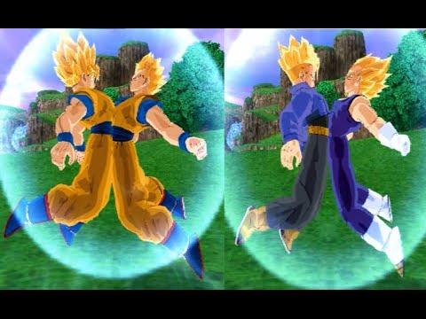 Fusion Gokhan SSJ VS Vegetrunks SSJ Dragon Ball Z Budokai Tenkaichi 3 Mod
