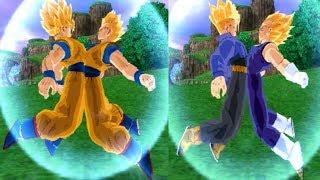 getlinkyoutube.com-Fusion Gokhan SSJ VS Vegetrunks SSJ Dragon Ball Z Budokai Tenkaichi 3 Mod