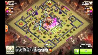 getlinkyoutube.com-Beating TH10 Nemezis (resource ring) Base Without Queen