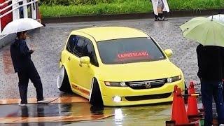 getlinkyoutube.com-【駐車場入口】+81Like HellaFlush 2015 ② 車高短 シャコタン Lowered Lowcar exhaust
