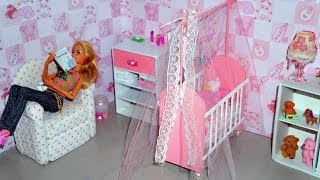 getlinkyoutube.com-How to make a baby crib / cot (part 1) for doll (Monster High, Barbie, etc)