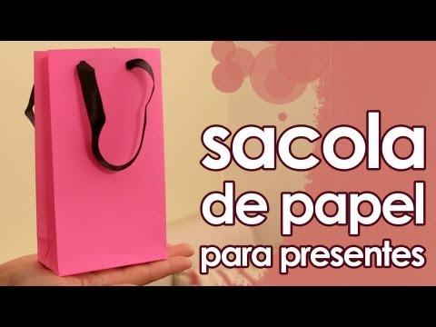 Sacola de papel para presentes (especial de Natal) (artesanato + origami)