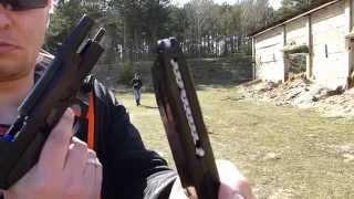 getlinkyoutube.com-Pierwsze strzelanie 13 °C - KJW Beretta Vertec M9 Full Metal