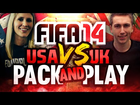 FIFA 14 -USA VS UK - PACK AND PLAY - ENGLISH LEAGUE PLAYERS!