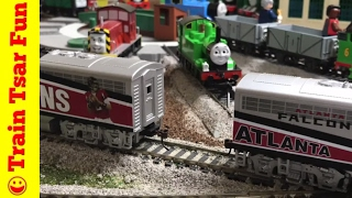 My NFL Football Train Collection | Plus Oliver, Thomas, Diesel, Iron 'Arry & Bert Help