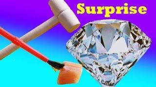 getlinkyoutube.com-GIANT SURPRISE DIY Mystery DIAMOND or Rock ? Christmas Stocking Stuffer Kids Dig It Huge Surprise